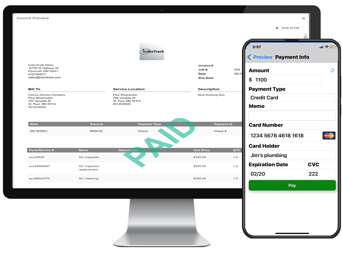 Invoice and Payment